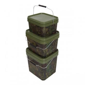 Krabičky, kufry, kbelíky, řízkovnice - GARDNER - Kbelík hranatý Square Camo Buckets
