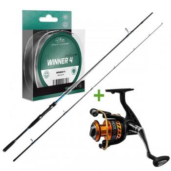Rybářské pruty - DELPHIN - Přívlačový set + šňůra Winner 4 125m ZDARMA!