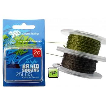 IMPORT hobby-g - Návazcová šňůrka Carp Braid Sinking 35lbs/20m Camou Green