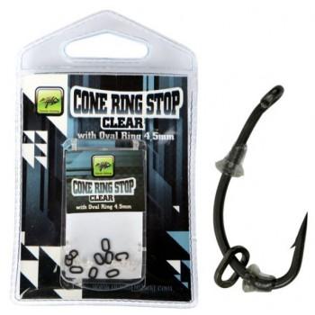 Bižuterie - GIANTS FISHING - Slídová zarážka s kroužkem Cone Ring Stop Clear with Oval Ring 4,5mm
