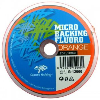 Vlasce, šňůry, návazce - GIANTS FISHING - Micro Backing Fluoro-Orange 20lb/100m