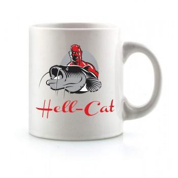 Dárky pro rybáře - HELL-CAT - Hrnek bílý s logem