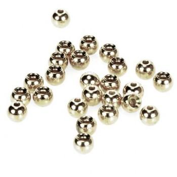 IMPORT hobby-g - Hlavičky stříbrné - Beads Nickel 2,8 mm/100 ks