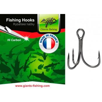 Háčky, krmítka, zátěže - GIANTS FISHING - Trojháčky 2X Strong 5ks