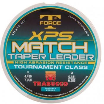 Vlasce, šňůry, návazce - TRABUCCO - Ujímaný vlasec TF XPS Match Taper Leader 10x15m