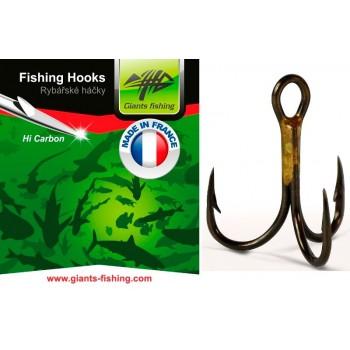 Háčky, krmítka, zátěže - GIANTS FISHING - Trojháčky 1X Strong 100ks