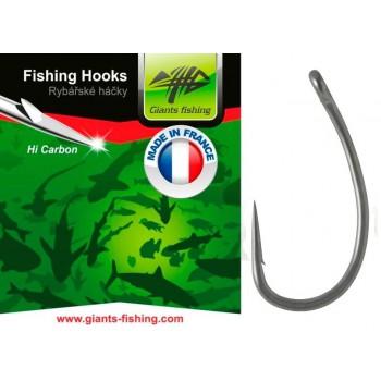 Háčky, krmítka, zátěže - GIANTS FISHING - Háček s očkem Medium Curve Shank 10ks