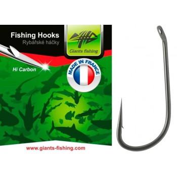Háčky, krmítka, zátěže - GIANTS FISHING - Háček s očkem Straight Shank 10ks vel.4