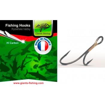 Háčky, krmítka, zátěže - GIANTS FISHING - Dvojháček candátový 100ks