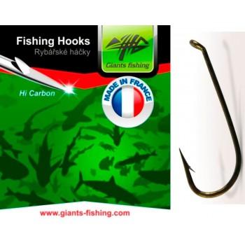 Háčky, krmítka, zátěže - GIANTS FISHING - Háček muškařský 10ks