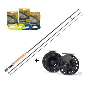Rybářské pruty - LEEDA - Prut Profil Stream 2,7m #5 3díly + Naviják + Muškařská šňůra ZDARMA!