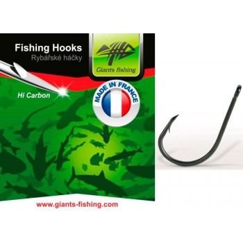 Háčky, krmítka, zátěže - GIANTS FISHING - Háčky s očkem Carp 10ks