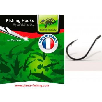 Háčky, krmítka, zátěže - GIANTS FISHING - Háčky s očkem 10ks