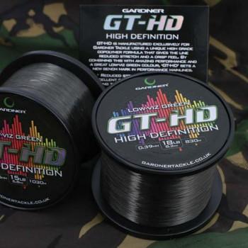 Vlasce, šňůry, návazce - GARDNER - Vlasec GT-HD Low-Viz Zelený