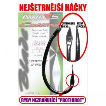 Háčky, krmítka, zátěže - AWA'S - Háčky Cutting Blade 6101 Black Nickel 10ks