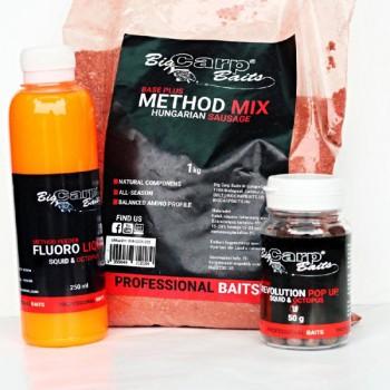 Krmení, nástrahy, návnady - BIG CARP BAITS - Method Mix + Micro POP-UP + METHOD FEEDER FLUORO LIQUID