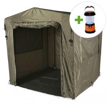 Bivaky, brolly, deštníky, přístřešky - JRC - Bivak Defender Social Shelter + LED lampa ZDARMA!