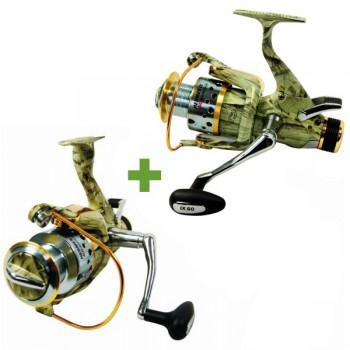 Rybářské navijáky - CARSON - Naviják Hermes Runner Camo 40 AKCE 1+1 ZDARMA!
