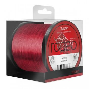 Vlasce, šňůry, návazce - DELPHIN - Červený vlasec RODEO 600m