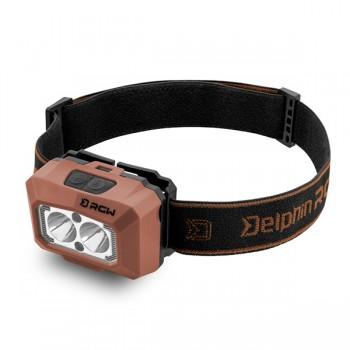 Camping - DELPHIN - USB čelová lampa RGW PRO