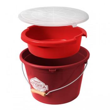 Krabičky, kufry, kbelíky, řízkovnice - DELPHIN - Vědro s lavorem a víkem Atoma COMBI 3v1