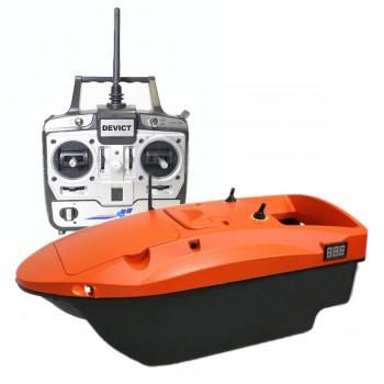 Čluny, elektromotory, loďky - DEVICT - Zakrmovací loď Tanker Mono oranžová + Boilies ZDARMA!