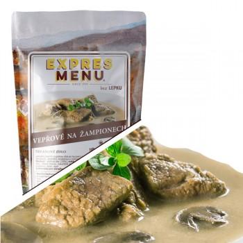 EXPRES MENU - EXPRES MENU - Vepřové na žampionech - 2 porce (600g )