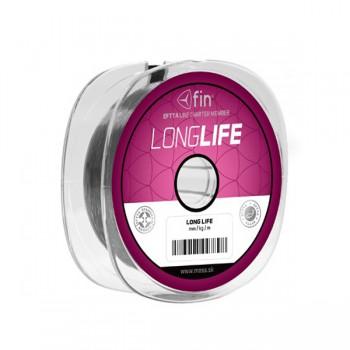 Vlasce, šňůry, návazce - FIN - Vlasec Factor Long Life Šedý