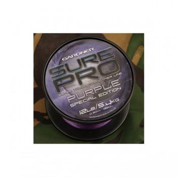 Vlasce, šňůry, návazce - GARDNER - Vlasec Sure Pro Purple Special Edition