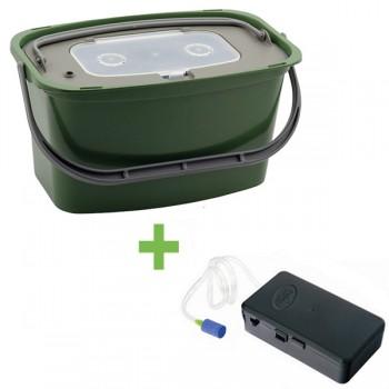 Krabičky, kufry, kbelíky, řízkovnice - GIANTS FISHING - Řízkovnice 7 litrů + vzduchování ZDARMA!