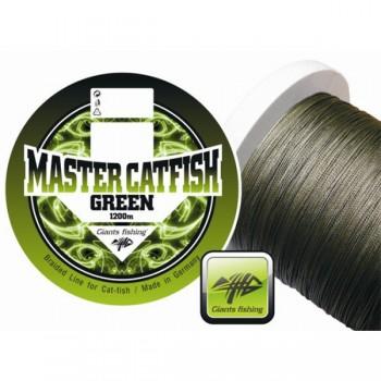 Vlasce, šňůry, návazce - GIANTS FISHING - Splétaná šňůra Master Catfish Green 0,60mm 1200m
