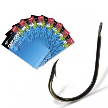 Háčky, krmítka, zátěže - GIANTS FISHING - Háčky s lopatkou a protihrotem Carp Hooks with Spade End 10ks