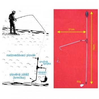Signalizátory, echoloty, kamery - SPORTS - Podvodní bójka 60g 74cm/31cm
