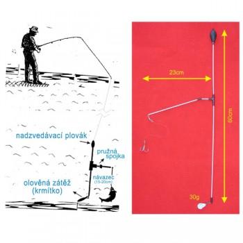 Signalizátory, echoloty, kamery - SPORTS - Podvodní bójka 30g 60cm/23cm