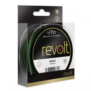 Vlasce, šňůry, návazce - FIN - Pletená šňůra Revolt 8X Zelená