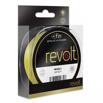 Vlasce, šňůry, návazce - FIN - Pletená šňůra Revolt 8X fluo žlutá