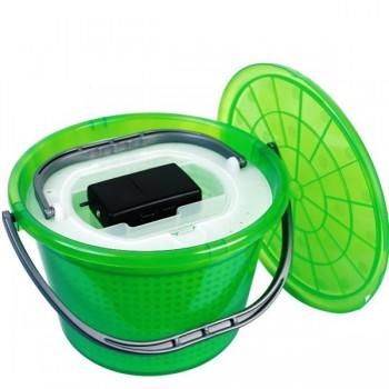 Krabičky, kufry, kbelíky, řízkovnice - GIANTS FISHING - Řízkovnice s víkem 13litrů + vzduchování ZDARMA!