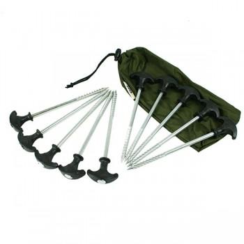 Bivaky, brolly, deštníky, přístřešky - NGT - Sada zavrtávacích kolíků na bivak 10ks