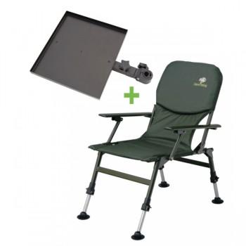 Křesla, lehátka, židličky - GIANTS FISHING - Sedačka Specialist Chair + Stolek Chair Table