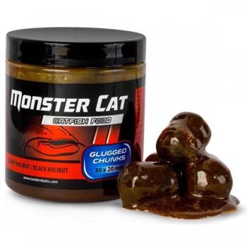Krmení, nástrahy, návnady - TANDEM BAITS - Monster Cat Glugged pelety 30x20mm 300g