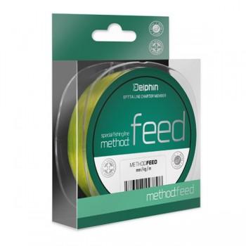Vlasce, šňůry, návazce - DELPHIN - Vlasec na feeder Method Feed Fluo žlutý 300m