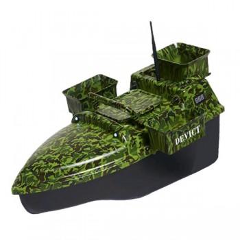 Čluny, elektromotory, loďky - DEVICT - Zakrmovací loď Tanker Triple camo + Boilies ZDARMA!