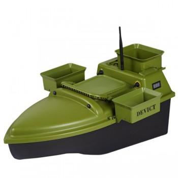 Čluny, elektromotory, loďky - DEVICT - Zakrmovací loď Tanker Triple zelená + Boilies ZDARMA!