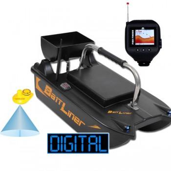 Čluny, elektromotory, loďky - SPORTS - Zavážecí loďka Bait Liner + Bezdrátový sonar v hodinkách + Boilies ZDARMA!