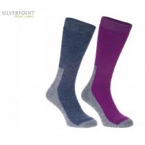 SILVERPOINT OUTDOOR - Ponožky dámské Merino Wool All Terrain Hiker 2páry