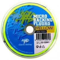 GIANTS FISHING - Micro Backing Fluoro-Yellow 20lb/100m