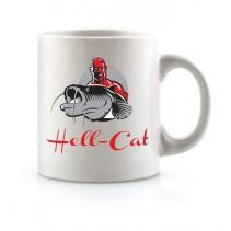 HELL-CAT - Hrnek bílý s logem
