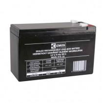 EMOS - Olověný bezúdržbový akumulátor 12V 9Ah faston 6,3mm