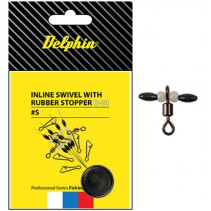 DELPHIN - Obratlík Inline Swivel with Rubber Stopper