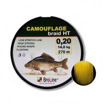 BROLINE - Plovoucí pletená šňůra na kapry Camouflage braid HT Žlutá 270m